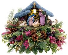 the miami christmas spirit shines forth in this joyful hand painted nativity scene